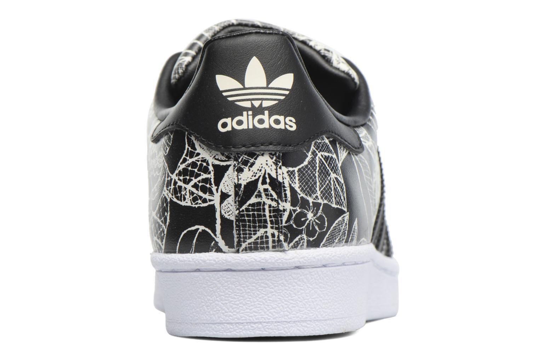 Baskets Adidas Originals Superstar W Noir vue droite