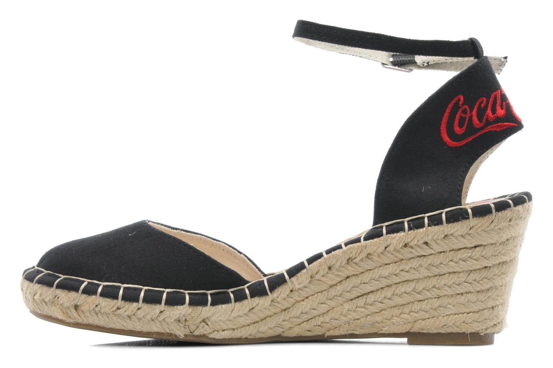 Sandales et nu-pieds Coca-cola shoes Juta City Noir vue face