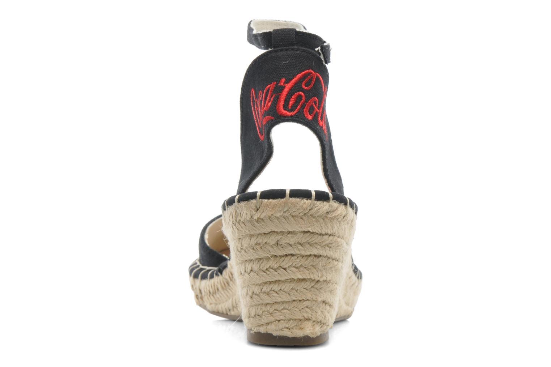 Sandali e scarpe aperte Coca-cola shoes Juta City Nero immagine destra