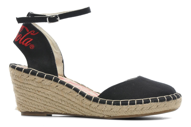Sandales et nu-pieds Coca-cola shoes Juta City Noir vue derrière