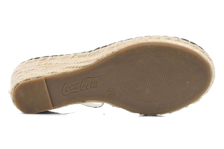 Sandales et nu-pieds Coca-cola shoes Juta City Noir vue haut
