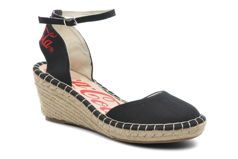 Sandales et nu-pieds Coca-cola shoes Juta City Noir vue détail/paire