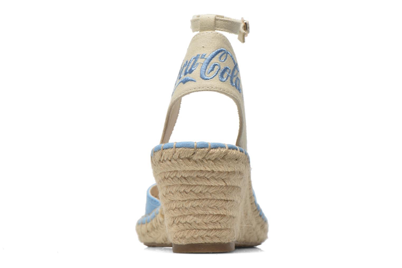 Sandales et nu-pieds Coca-cola shoes Juta City Bleu vue droite