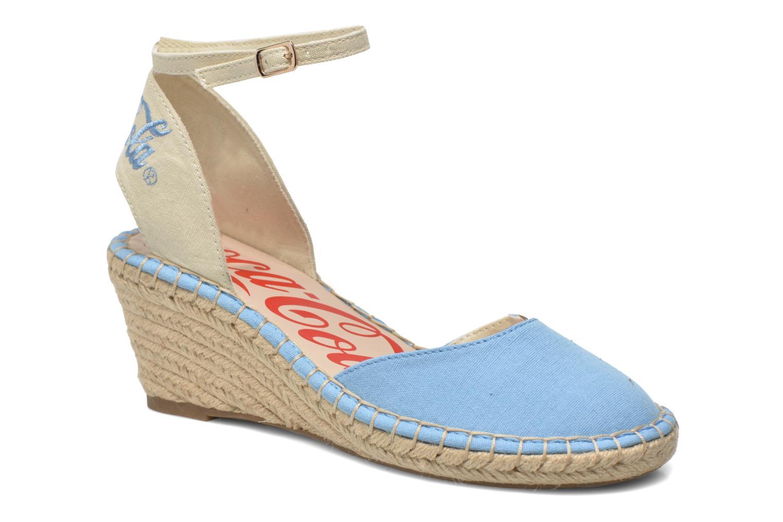 Sandalen Coca-cola shoes Juta City Blauw detail