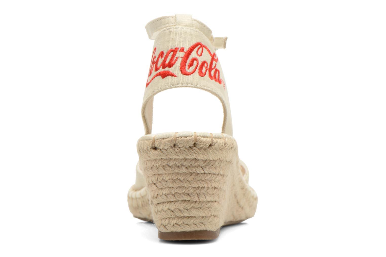 Sandali e scarpe aperte Coca-cola shoes Juta City Beige immagine destra