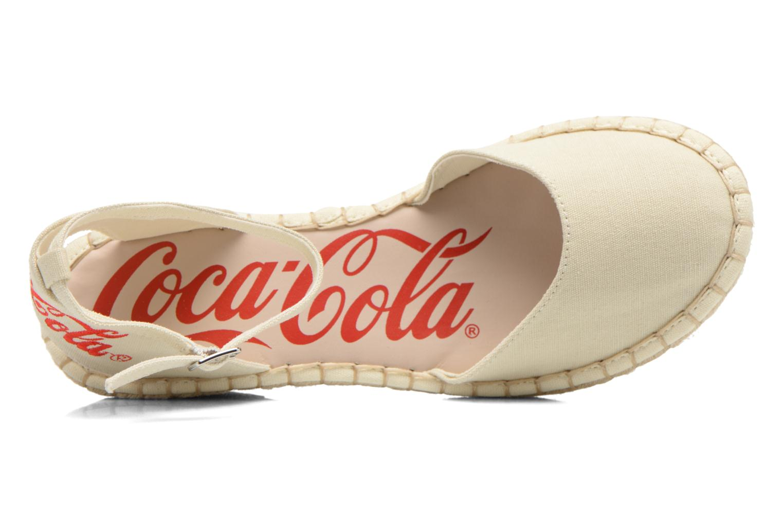 Sandali e scarpe aperte Coca-cola shoes Juta City Beige immagine sinistra