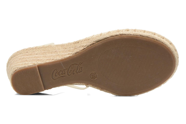 Sandali e scarpe aperte Coca-cola shoes Juta City Beige immagine dall'alto