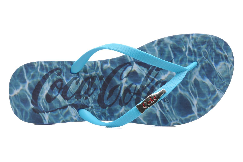 Tongs Coca-cola shoes Water Girls Bleu vue gauche