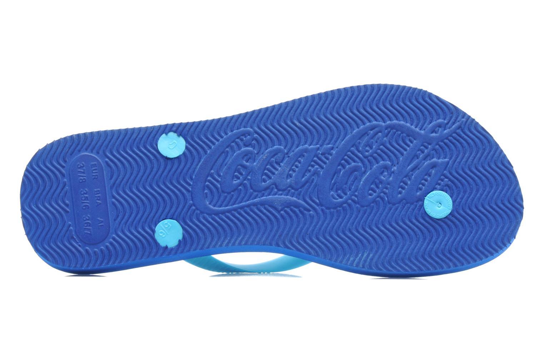 Infradito Coca-cola shoes Water Girls Azzurro immagine dall'alto