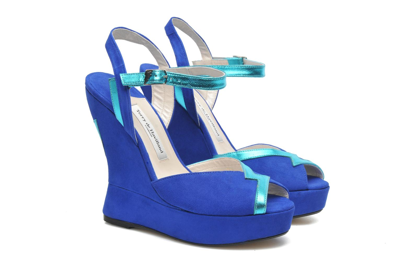 Sandals Terry de Havilland Izzy Blue 3/4 view