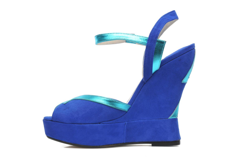 Sandales et nu-pieds Terry de Havilland Izzy Bleu vue face