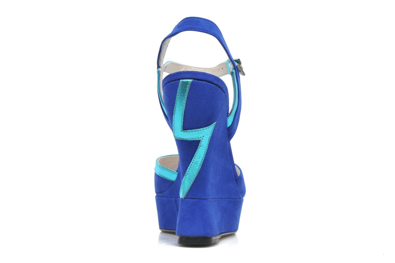 Sandalias Terry de Havilland Izzy Azul vista lateral derecha