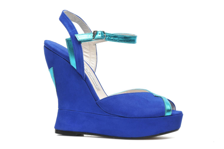 Sandales et nu-pieds Terry de Havilland Izzy Bleu vue derrière