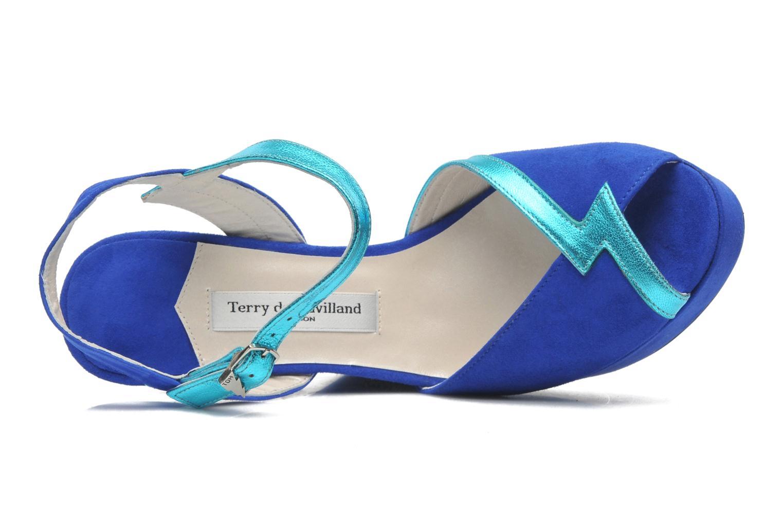 Sandalias Terry de Havilland Izzy Azul vista lateral izquierda