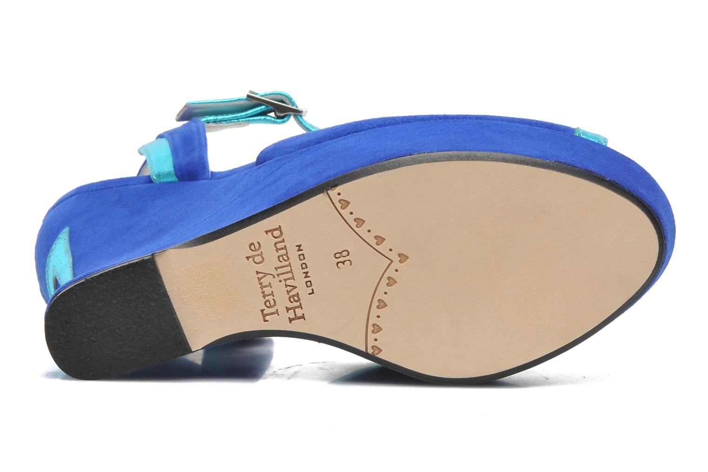 Sandales et nu-pieds Terry de Havilland Izzy Bleu vue haut