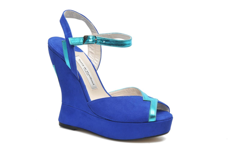 Sandales et nu-pieds Terry de Havilland Izzy Bleu vue détail/paire