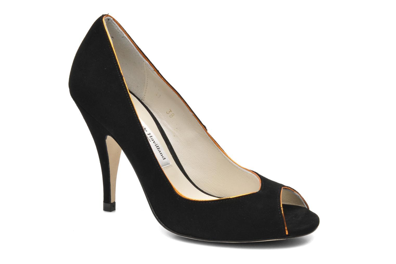 High heels Terry de Havilland Chloe Black detailed view/ Pair view