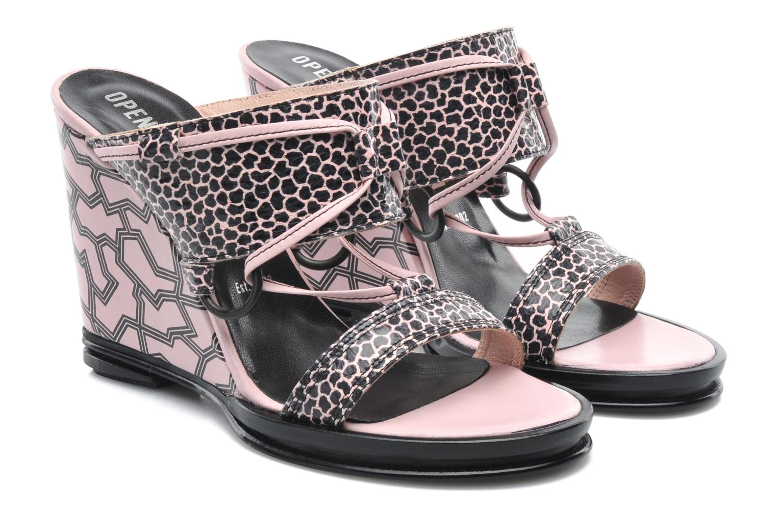 Mae ankle strap wedge Blush pink multi