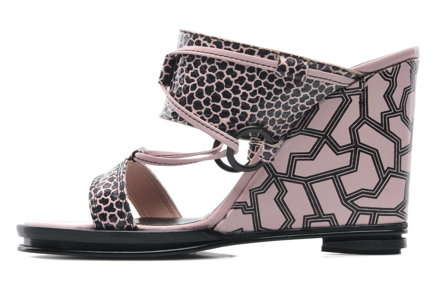 Mules et sabots Opening Ceremony Mae ankle strap wedge Rose vue face
