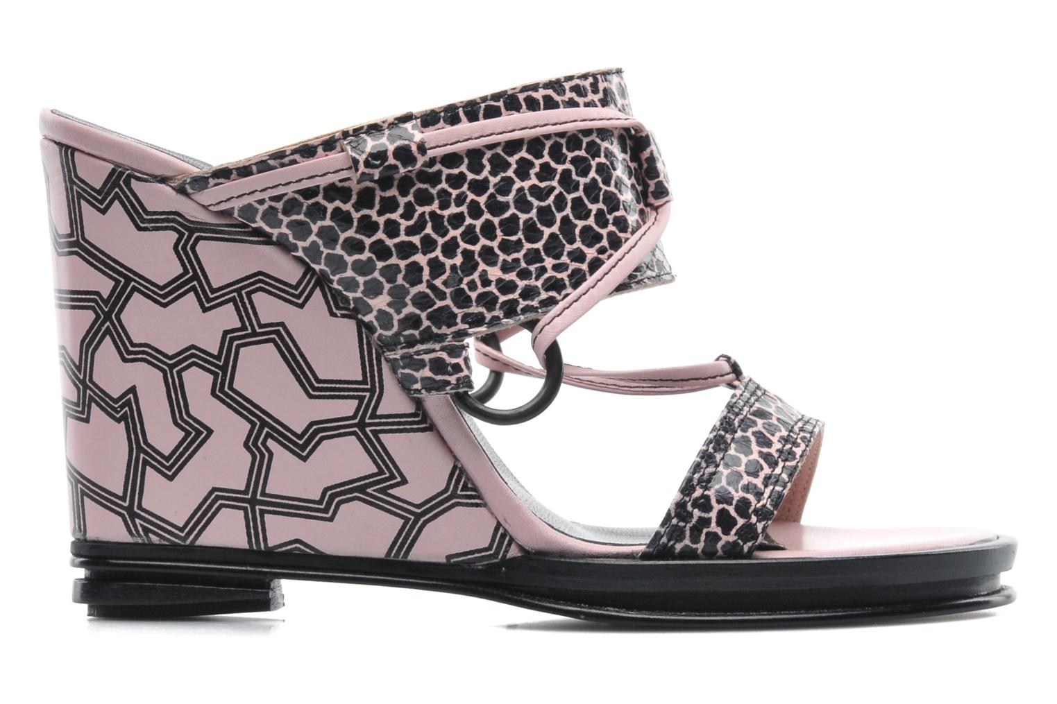 Zuecos Opening Ceremony Mae ankle strap wedge Rosa vistra trasera