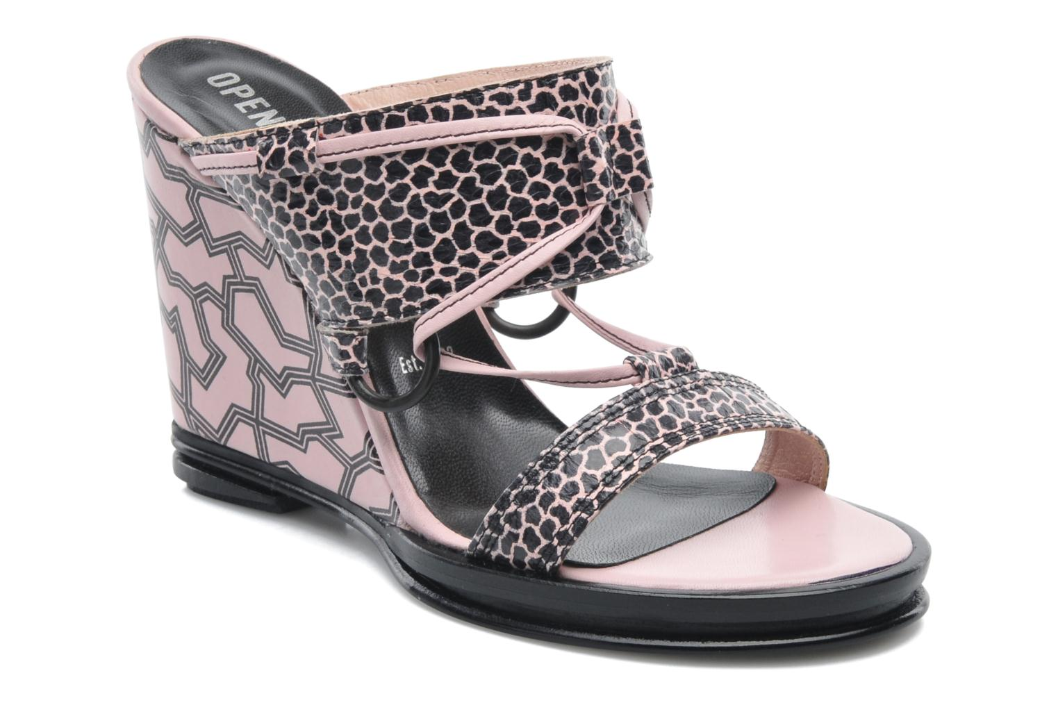 Clogs & Pantoletten Opening Ceremony Mae ankle strap wedge rosa detaillierte ansicht/modell