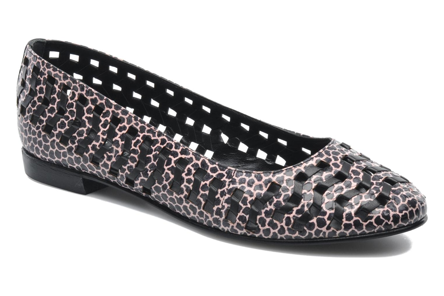Mae slip on flat pink multi