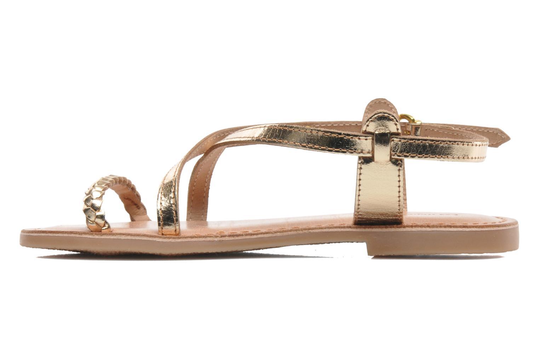 Sandales et nu-pieds Les Tropéziennes par M Belarbi Baladin Or et bronze vue face