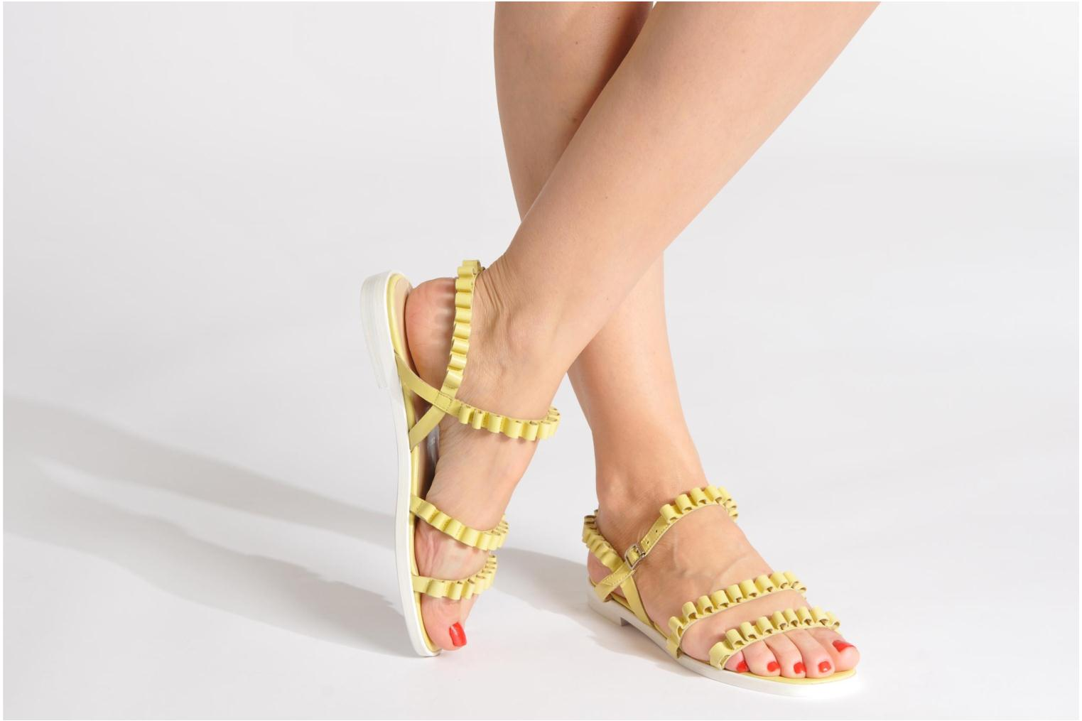 Sandals Opening Ceremony Mazzy sandal Pink view from underneath / model view