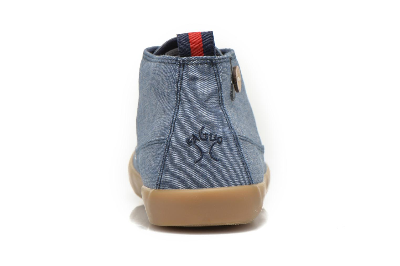 Sneaker Faguo Oleaster M blau ansicht von rechts