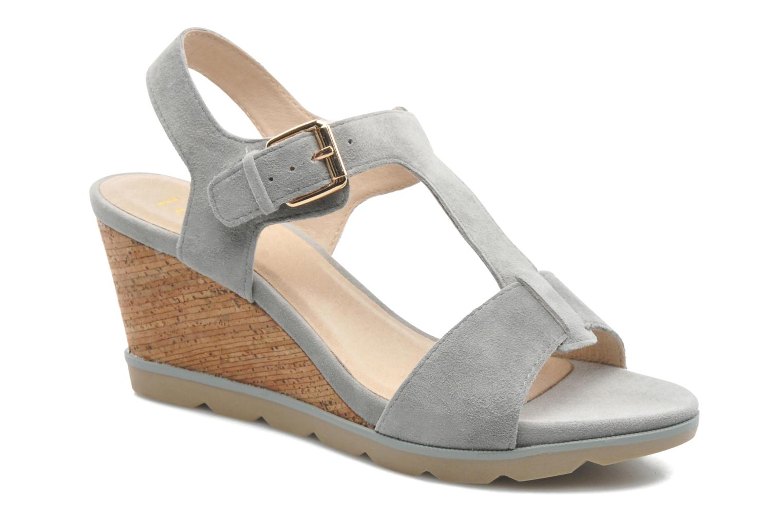 Mirror Pale grey kid suede