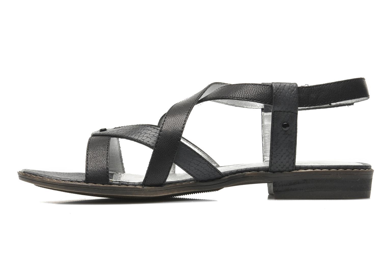Sandales et nu-pieds Madison Runan Noir vue face