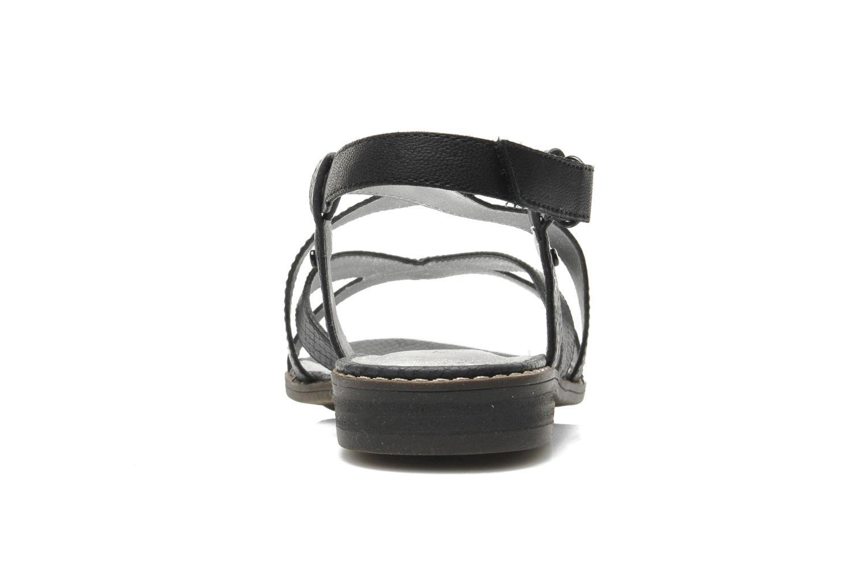 Sandales et nu-pieds Madison Runan Noir vue droite