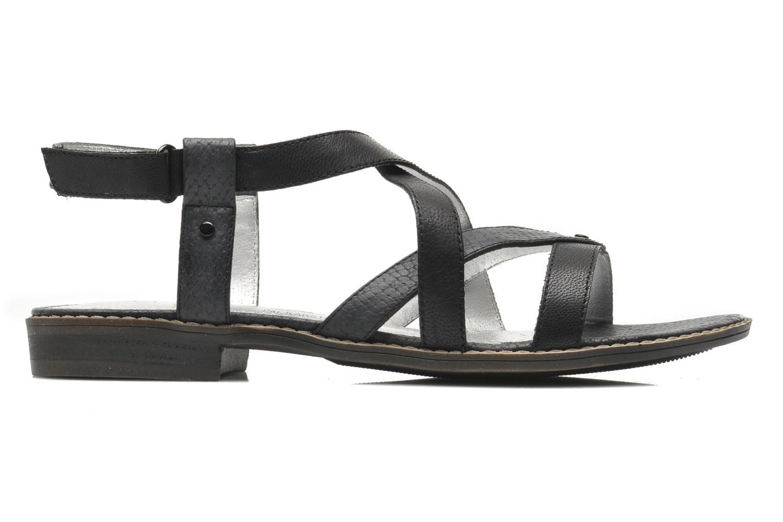 Sandales et nu-pieds Madison Runan Noir vue derrière