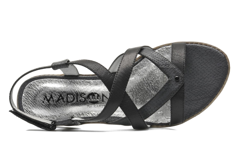 Sandales et nu-pieds Madison Runan Noir vue gauche