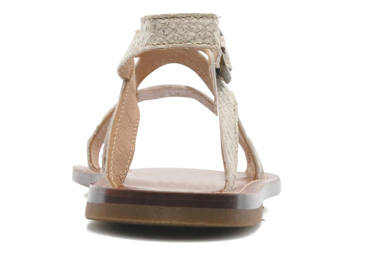 Sandales et nu-pieds PèPè Agati Beige vue droite