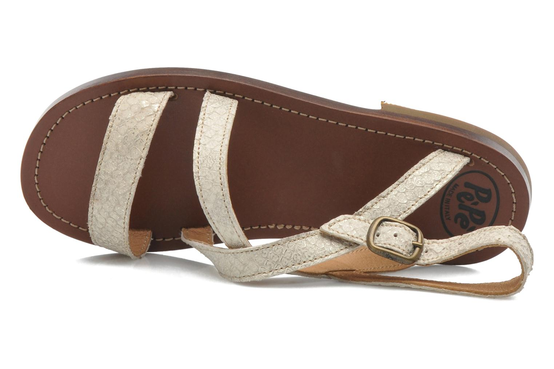 Sandales et nu-pieds PèPè Agati Beige vue gauche