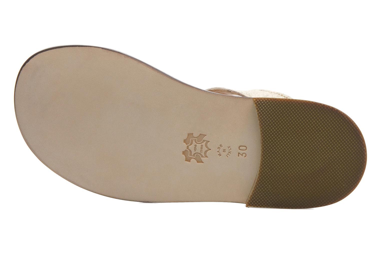 Sandales et nu-pieds PèPè Agati Beige vue haut