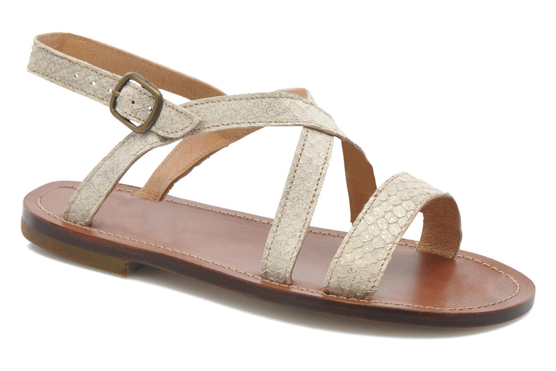 Sandales et nu-pieds PèPè Agati Beige vue détail/paire