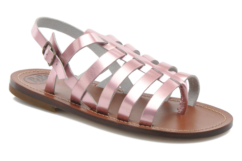 Sandales et nu-pieds PèPè Alteri Rose vue détail/paire