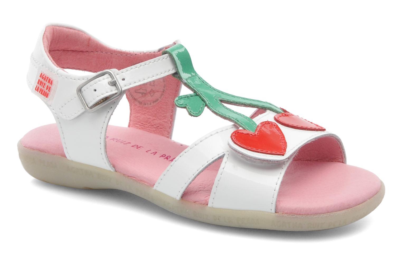 Sandales et nu-pieds Agatha Ruiz de la Prada Cereza Blanc vue détail/paire