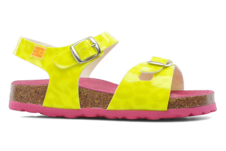 Sandalen Agatha Ruiz de la Prada Dominica gelb ansicht von hinten