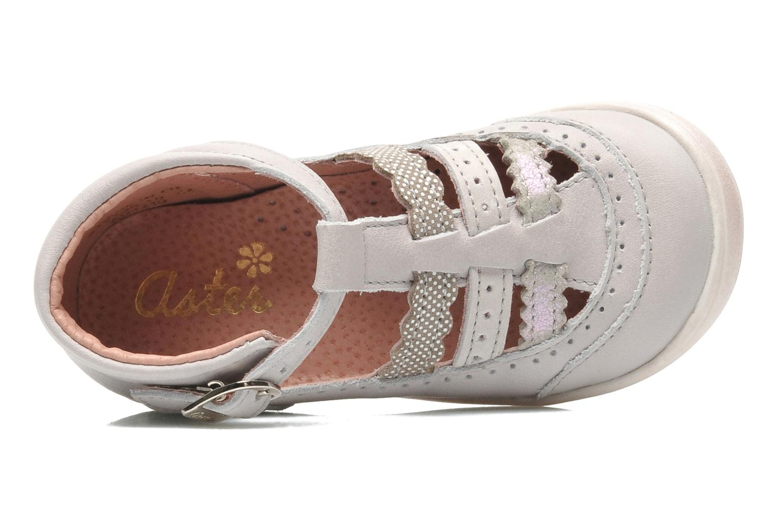 Sandals Aster MELODINE Grey view from the left