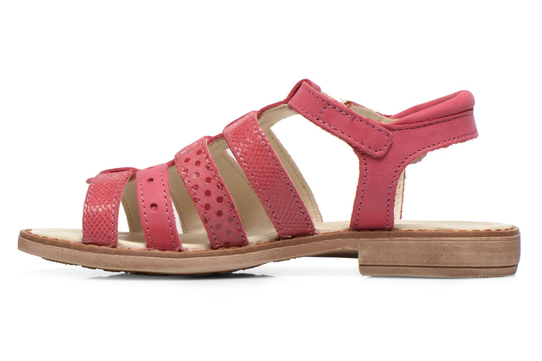 Sandales et nu-pieds Aster TALITA Rose vue face