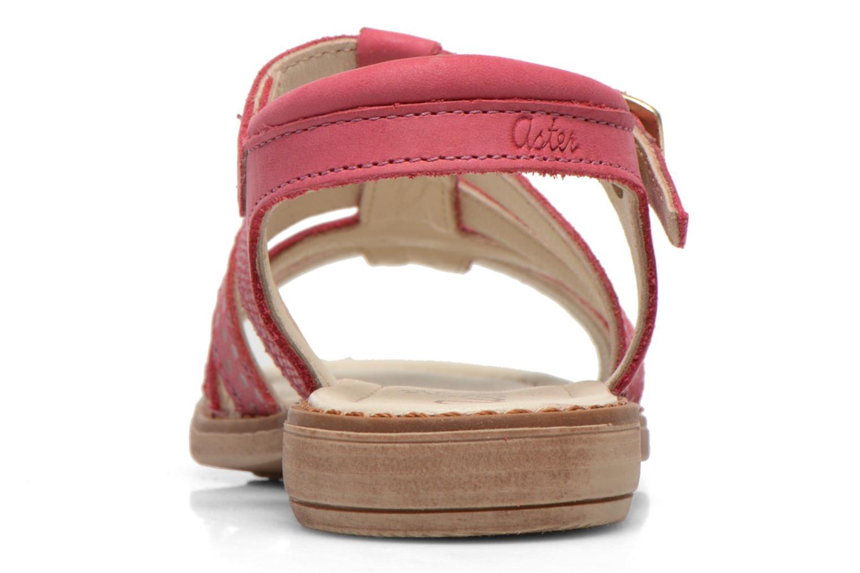 Sandales et nu-pieds Aster TALITA Rose vue droite