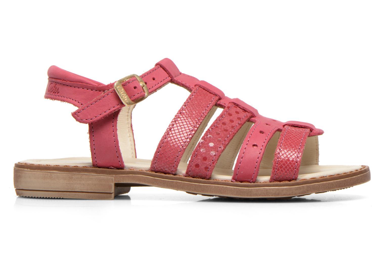 Sandales et nu-pieds Aster TALITA Rose vue derrière