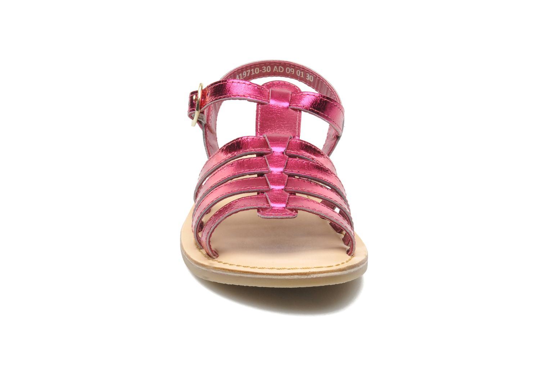Sandales et nu-pieds Mod8 ZAN Rose vue portées chaussures