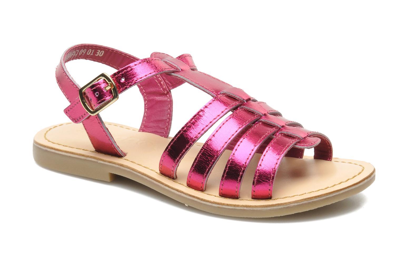 Sandales et nu-pieds Mod8 ZAN Rose vue détail/paire