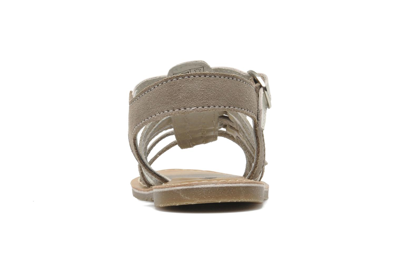 Sandals Bopy HIBOCUS Beige view from the right