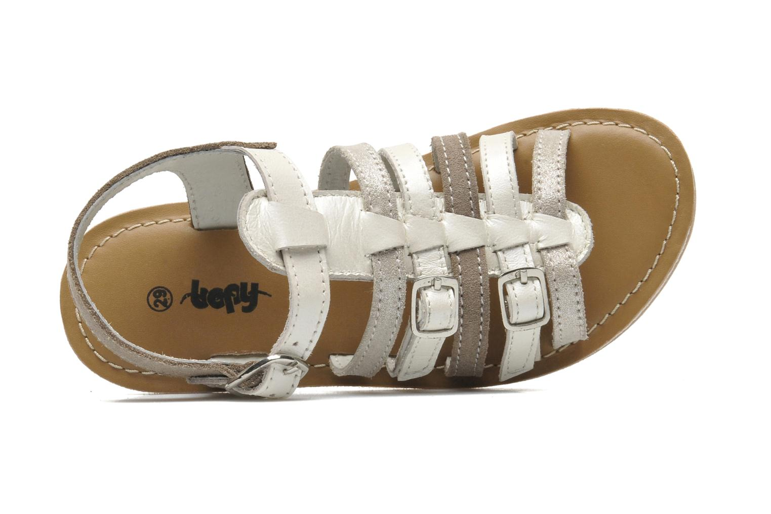 Sandals Bopy HIBOCUS Beige view from the left