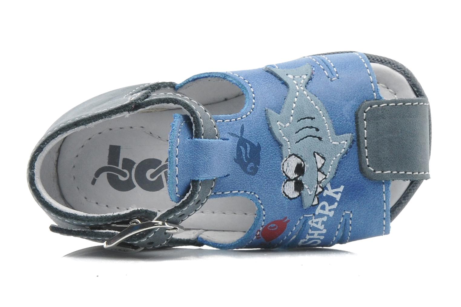 Sandals Bopy ZAQUA Blue view from the left